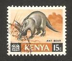 Stamps : Africa : Kenya :  oso hormiguero