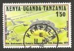 Stamps : Africa : Kenya :  Kenya Uganda Tanzania - aeropuerto internacional de Nairobi