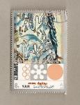 Sellos de Asia - Yemen -  Juegos Olímpicos Invierno Sapporo