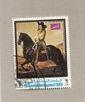 Stamps Yemen -  Retrato de Pieter Schout a caballo