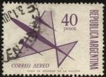Sellos de America - Argentina -  Correo aéreo. Sellos para franqueo aéreo y ordinario.