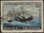 Stamps Argentina -  Escuela Naval Militar de la Argentina. Buque Escuela General Brown.
