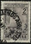 Stamps Argentina -  150 años del combate naval de San Nicolás, primera acción naval entre independentistas y realistas e