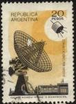 Stamps Argentina -  Conmemorativo de las comunicaciones por satélite.