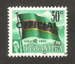 Stamps of the world : Tanzania :  Tanganika - bandera nacional