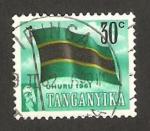 Stamps : Africa : Tanzania :  Tanganika - bandera nacional