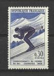 Sellos de Europa - Francia -  Campeonatos de Ski.
