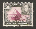 Stamps : Africa : Kenya :  Kenya Uganda Tanganika - george VI y lago victoria