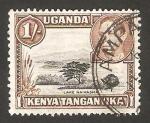 Stamps : Africa : Kenya :  Kenya Uganda Tanganika - george VI  y lago naivasha