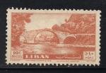 Sellos de Asia - Líbano -  Antiguo Puente sobre Río del perro.