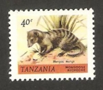 Stamps : Africa : Tanzania :  animal salvaje, mungos mungo