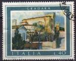 Sellos de Europa - Italia -  Italia 1974 Scott 1154 Sello Turistica Paisajes Vista de Gradara Usado
