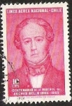 Stamps of the world : Chile :  CENTENARIO DE LA MUERTE DE ANDRES BELLO