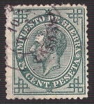 Stamps Europe - Spain -  Alfonso XII. - Edifil 183