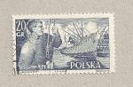 Stamps Poland -  Barco mercante y marinero
