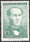 Stamps of the world : Chile :  CENTENARIO DE LA MUERTE DE LORENZO SAZIE