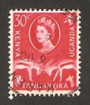 Stamps : Africa : Kenya :  Elizabeth II y gacelas