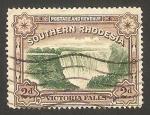 Stamps : Africa : Zimbabwe :  rhodesia del sur - Cataratas del lago Victoria