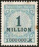 Stamps Europe - Germany -  DEUTSCHES REICH - IMPERIO ALEMAN -  1 MILLION