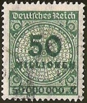 Stamps Europe - Germany -  DEUTSCHES REICH - IMPERIO ALEMAN -  50 MILLION
