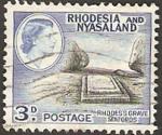 Sellos del Mundo : Africa : Malawi : rhodesia nyasaland - tumba de lord cecil rhodes en matopos