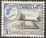 Stamps Africa - Malawi -  rhodesia nyasaland - tumba de lord cecil rhodes en matopos