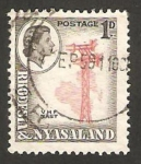 Stamps of the world : Malawi :  rhodesia nyasaland - torre de radio