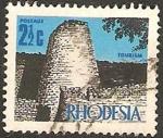 Sellos del Mundo : Africa : Zimbabwe : rhodesia - torre y muralla
