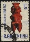 Sellos de America - Argentina -  XX Aniversario de la UNESCO. Antigua vasija indígena.