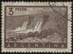 Stamps Argentina -  Dique El Nihuil en la terminación del Cañón del Atuel en la Provincia de Mendoza.