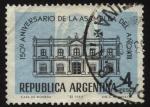 Sellos de America - Argentina -  150 años de la asamblea del año XIII. Sello de la asamblea soberana impreso encima del edificio del