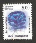 Stamps : Asia : Sri_Lanka :  zafiro azul