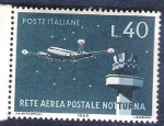Stamps : Europe : Italy :  Red aérea postal nocturna