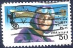Stamps : America : United_States :  Harriet Quimby piloto pionero