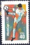 Stamps : America : United_States :  Mundial de fútbol de 1994