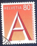 Stamps Switzerland -  Letra A