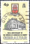 Sellos de Europa - Gibraltar -  150º aniversario diócesis de Gibraltar