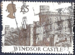 Stamps United Kingdom -  Castillo de Windsor