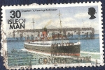 Stamps Europe - Isle of Man -  Snaefell zarpando de Ardrossan