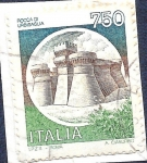 Sellos de Europa - Italia -  Castillo de Urbisaglia