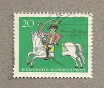 Stamps Germany -  Baron Münchausen