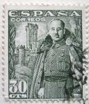 Stamps Europe - Spain -  General franco y castillo de la mota