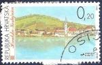 Sellos de Europa - Croacia -  Lago y pueblo