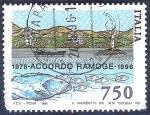 Stamps Italy -  Acuerdo con Francia