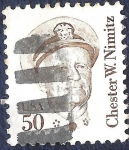 Sellos de America - Estados Unidos -  Chester W. Nimitz