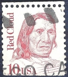 Stamps United States -  Red Cloud