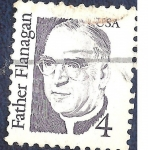 Stamps United States -  Father Flanagan