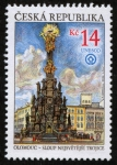Stamps Europe - Czech Republic -  REPUBLICA CHECA - Columna de la Santísima Trinidad en Olomouc