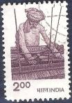 Sellos de Asia - India -  Tejedor