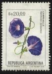 sellos de America - Argentina -  Flor de Campanilla. - Ipomoea purpurea.